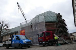 Die Bauarbeiten für die Neugestaltung der Domschatzkammer Minden haben in dieser Woche begonnen. Domgemeinde und Dombau-Verein Minden investieren rund 2,5 Millionen Euro in den Umbau. Foto: Hans-Jürgen Amtage