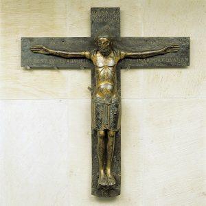 Das Mindener Kreuz aus dem 11. Jahrhundert ist Herzstück im Domschatz Minden. Foto: Arnold Weigelt †
